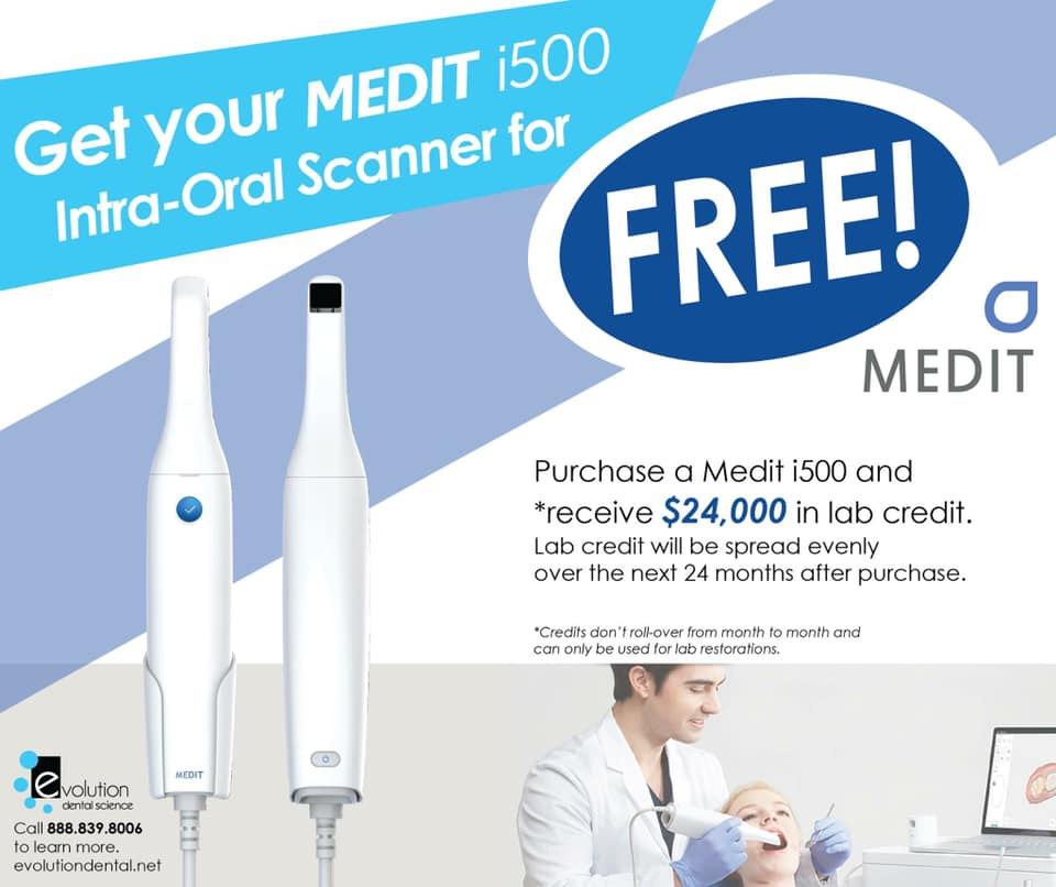 FREE Medit i500! An EDS Exclusive Promotion. LIMITED TIME OFFER!
