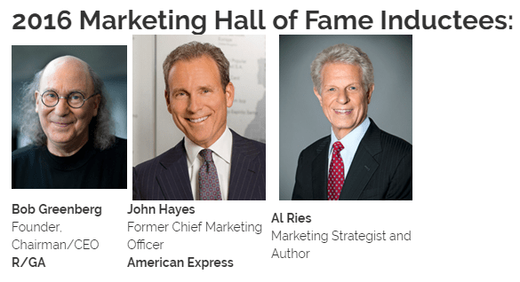 2016 Marketing Hall of Fame Inductees