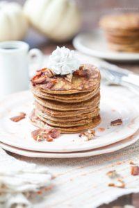 plate of pumpkin pancakes