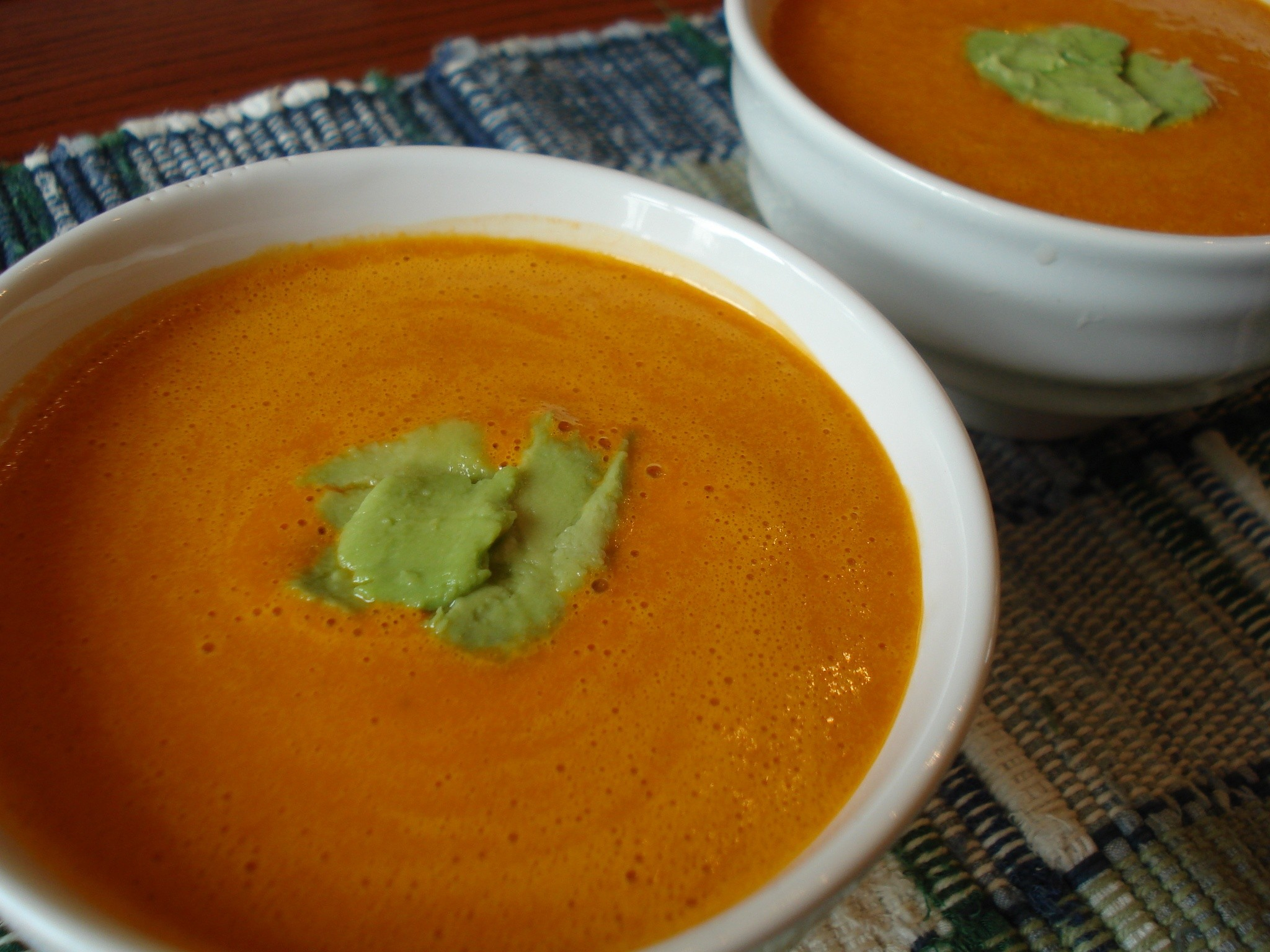 Creamy Raw Carrot Ginger Soup