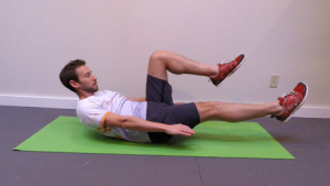 Extend one leg and hold