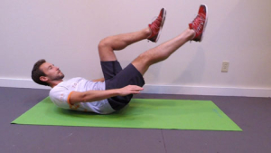 Stay stiff and rock with one leg extended