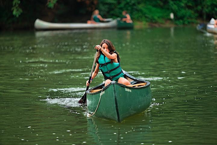 Solo canoeist