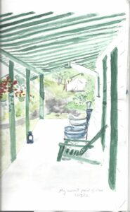 Watercolor of camp