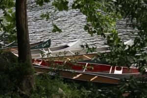 Canoes at Camp