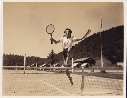 Vintage Tennis at Camp Alleghany for Girls