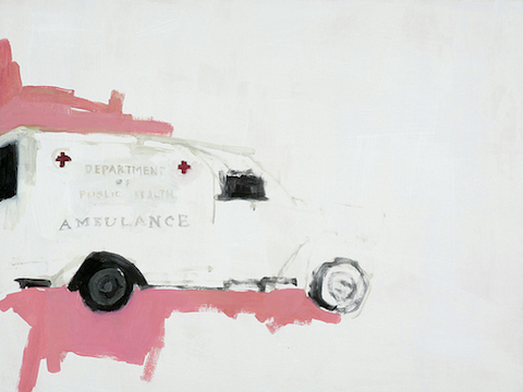 Ambulance by artist Jennie Ottinger for her solo Due By show, 2010.
