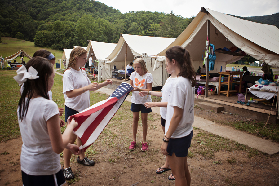 flag protocol at camp