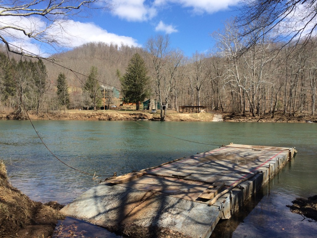 The Greenbrier River in early spring