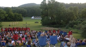 A typical Vespers setting at Camp Alleghany