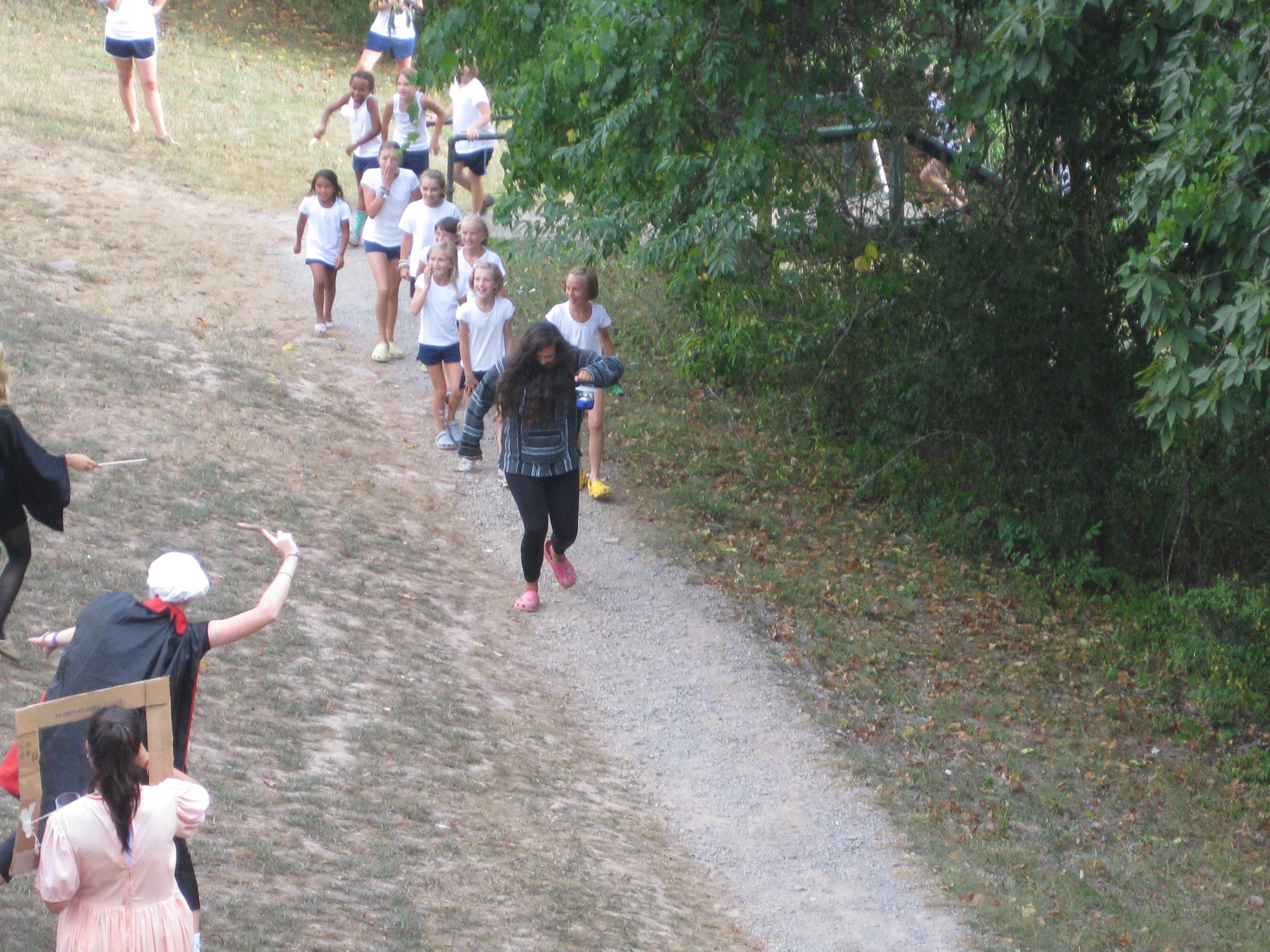 hagrid leading campers