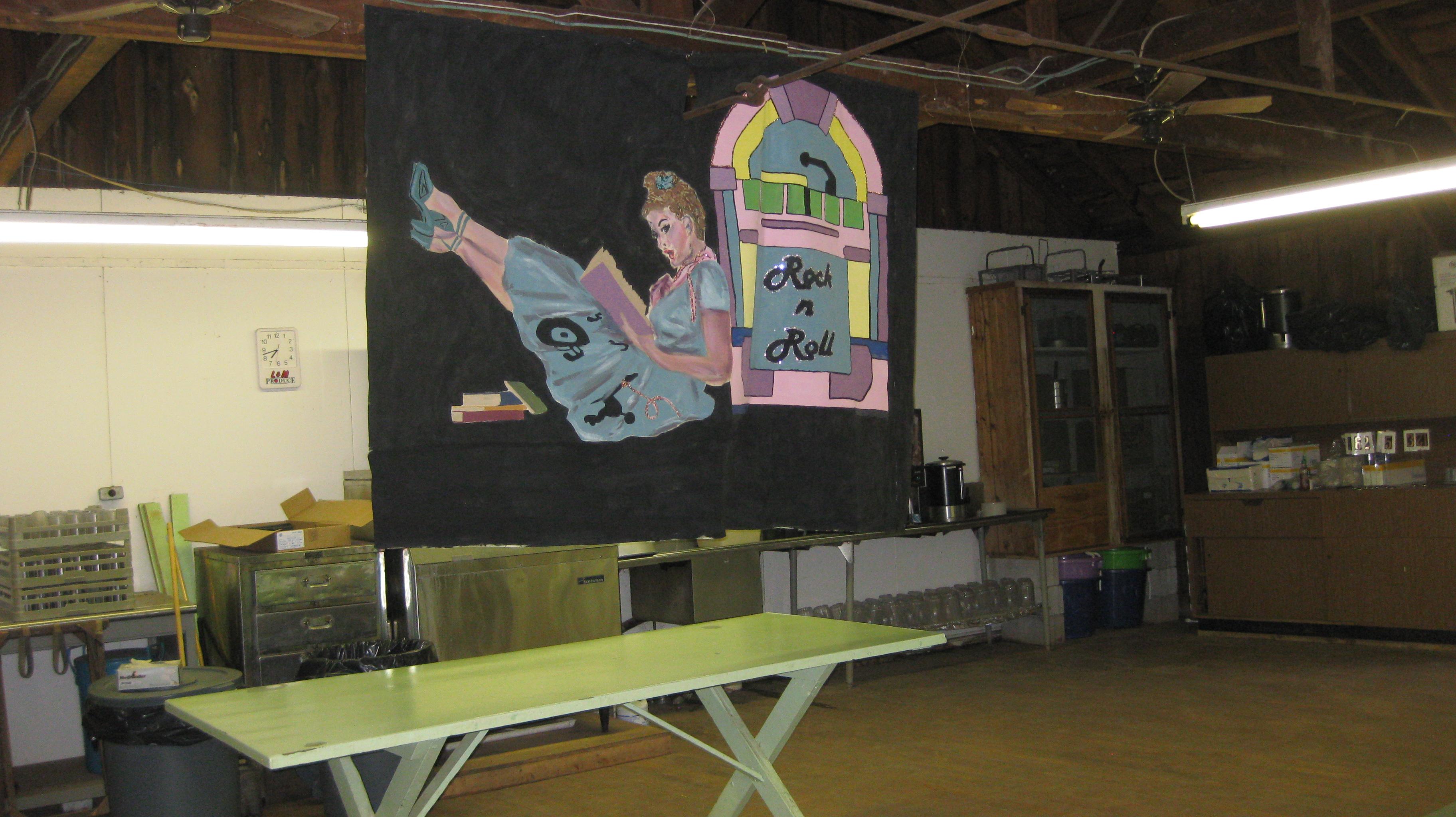 inside banner 1950s theme
