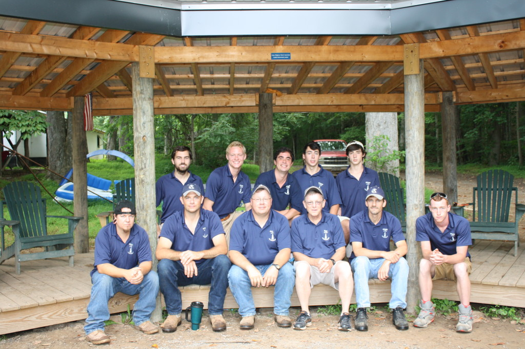 The 2015 Green Team under Garett O'Dell. Photo: Camp Alleghany Archives. (Click to enlarge.)