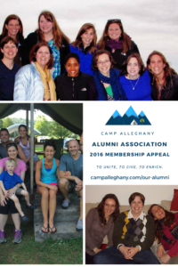 Camp Alleghany Alumni Association Membership Appeal