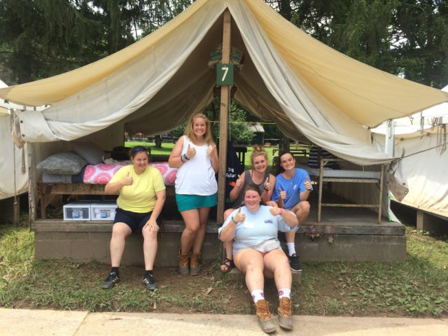 Senior Camp Counselors at Camp Alleghany for Girls
