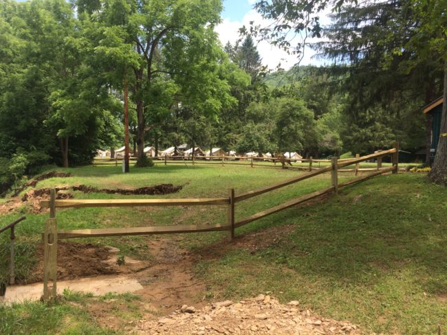Fence at Camp Alleghany for Girls