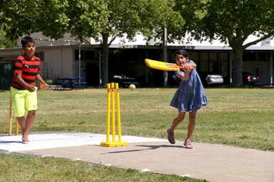 •Lots of fun for the kids at the Napa Valley World Series of Cricket season