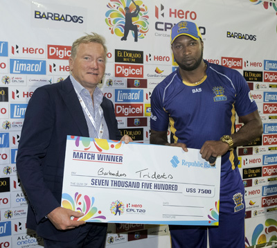 Cricket; Barbados Tridents; Guyana Amazon Warriors; CPL; 2015
