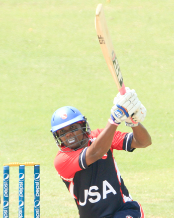 Steve Massiah hit a brilliant 107 from 55 balls which include eight fours and eight sixes.