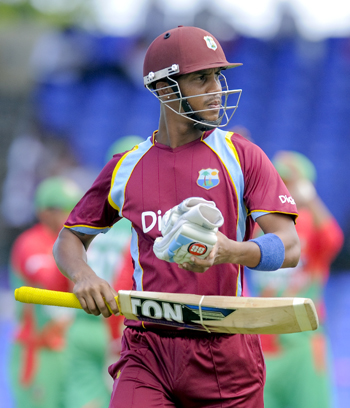 Lendl Simmons will represent the St. Kitts & Nevis Patriots in this year's Hero Caribbean Premier League. WICB Media Photo/Randy Brooks