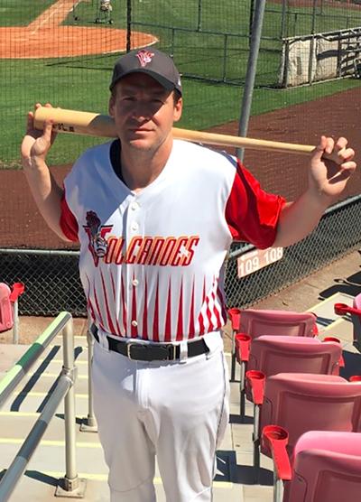 Justin Lacche - Switch-hitting for the Salem-Keizer Volcanoes and the Beaverton Badshahs. Photo: Justin Lacche