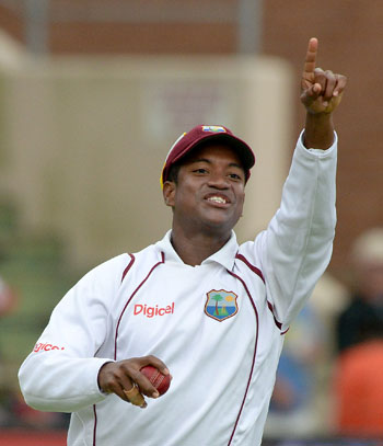 Leon Johnson will lead a WICB President's XI against India starting on Saturday. Photo by Duif du Toit/Gallo Images