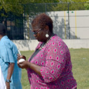 State Senator Roxanne Persaud Bowls First Ball