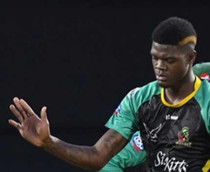 Alzarri Joseph, cricketer Alzarri Joseph, west indies cricketer Alzarri Joseph, patriots Alzarri Joseph