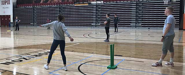 Indiana University-Purdue University student bowling