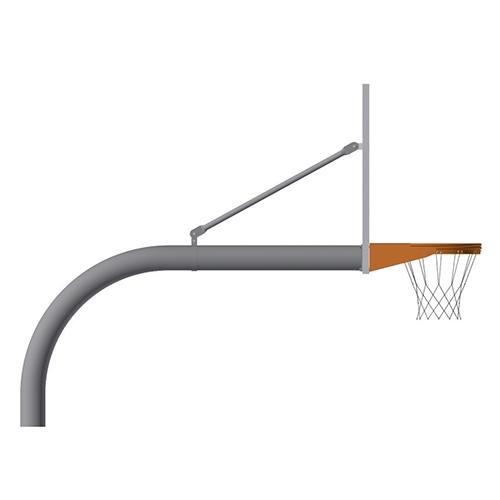 "4-1/2"" Gooseneck Post (w/ Perf Steel Board – Playground Goal)"
