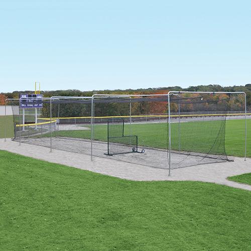 Semi-Permanent Outdoor Batting Tunnel Frame (55′)