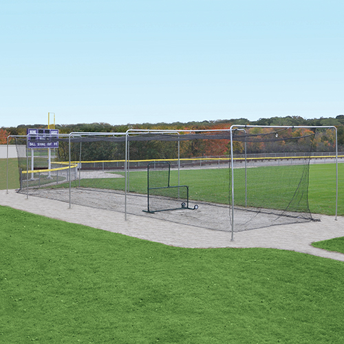 Semi-Permanent Outdoor Batting Tunnel Frame (70′)