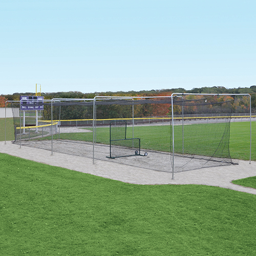 Surface-Mounted Outdoor Batting Tunnel Frame (70′)