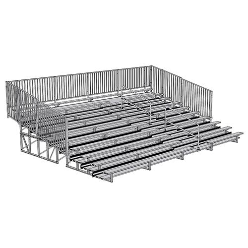 Enclosed Bleacher (10 Row – 27' – w/ Guard Rail & Aisle)