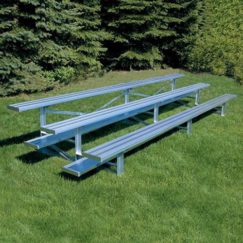 All Aluminum Bleachers (15′ Single Foot Plank – 3 Row)