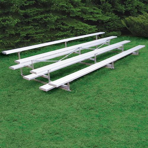 All Aluminum Bleachers (27′ Single Foot Plank – 4 Row)