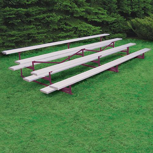 All Aluminum Bleacher (15′ Single Foot Plank – 4 Row – Powder Coated)