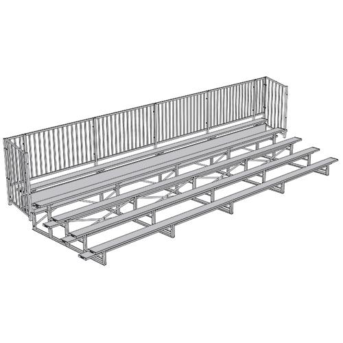 Enclosed Bleacher (5 Row – 27' w/ Guard Rail)