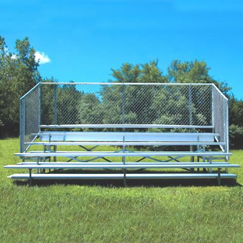 Enclosed Bleacher (5 Row – 15' – w/ Chain Link)