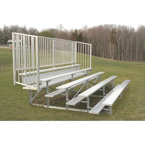 Enclosed Bleacher (5 Row – 15' w/ Guard Rail)