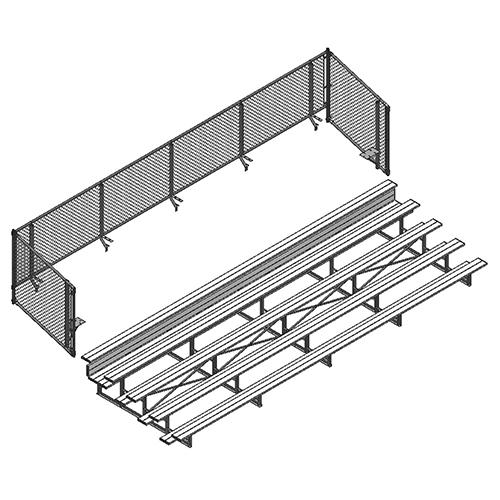 Universal Enclosure (5 Row – 15' Bleacher)