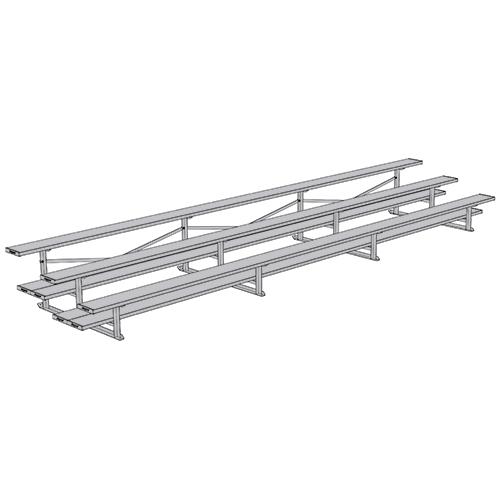 All Aluminum Bleachers (21′ Double Plank – 3 Row)