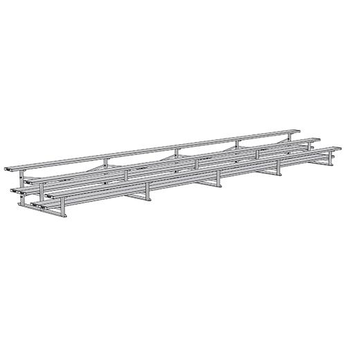 All Aluminum Bleacher (27′ Single Foot Plank – 3 Row)