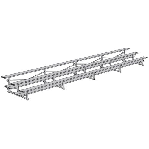 All Aluminum Bleachers (27′ Double Foot Plank – 3 Row)