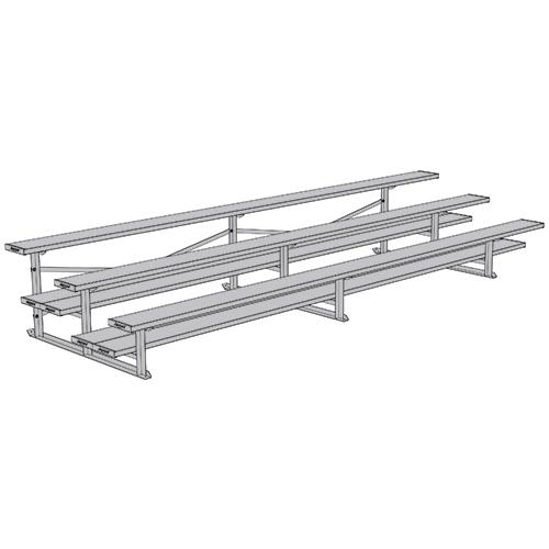 All Aluminum Bleachers (15′ Double Foot Plank – 3 Row)
