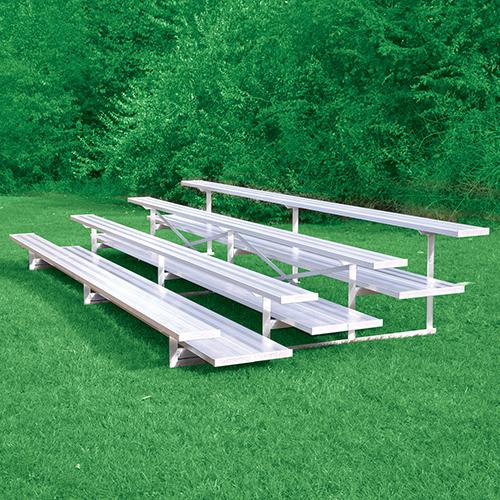 All Aluminum Bleachers (27′ Double Foot Plank – 4 Row)
