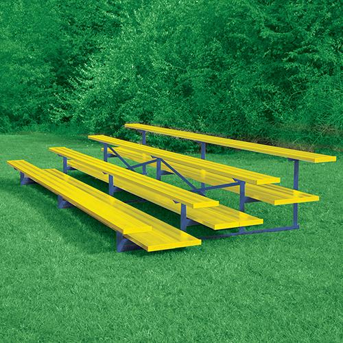 All Aluminum Bleacher (15′ Double Foot Plank – 4 Row – Powder Coated)