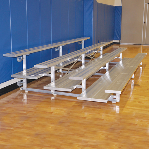 Tip & Roll Bleachers (15′ Double Foot Plank – 4 Row)