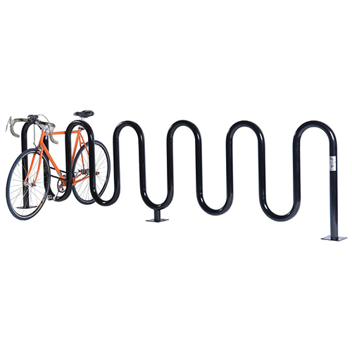 Wave Bicycle Rack (7 Capacity – Below Grade Mount – Powder Coated)