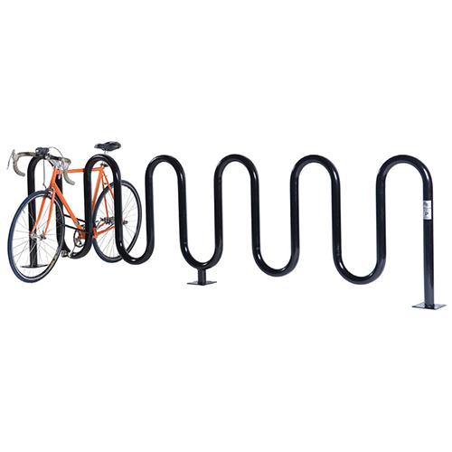 Wave Bicycle Rack (7 Capacity – Below Grade Mount – Powder Coated)